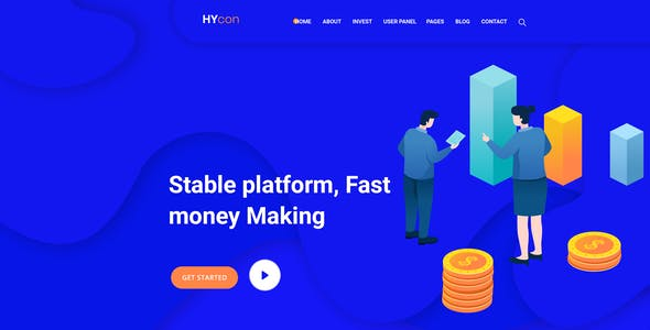 Hycon - HYIP Investment PSD Template