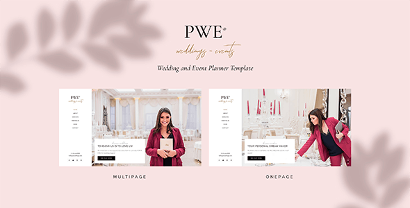 PWE - Wedding and Event Planner Template - Wedding Site Templates