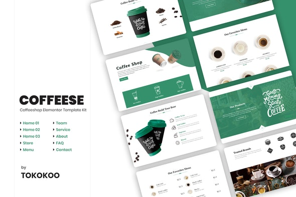 Coffesse   Cafe & Coffee Shop Elementor Template Kit - Food & Drink Elementor