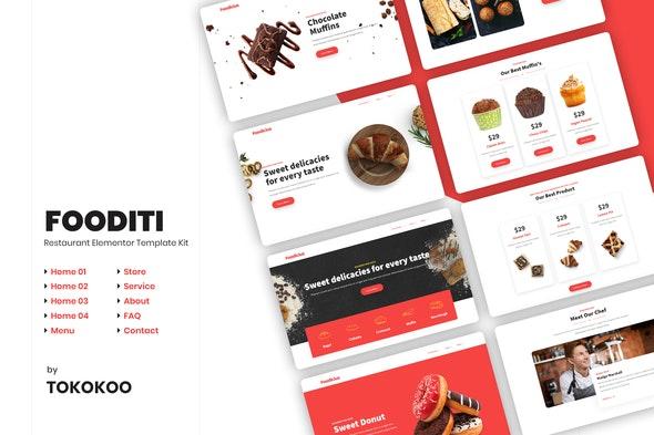 Fooditi | Restaurant & Cafe Elementor Template Kit - Food & Drink Elementor