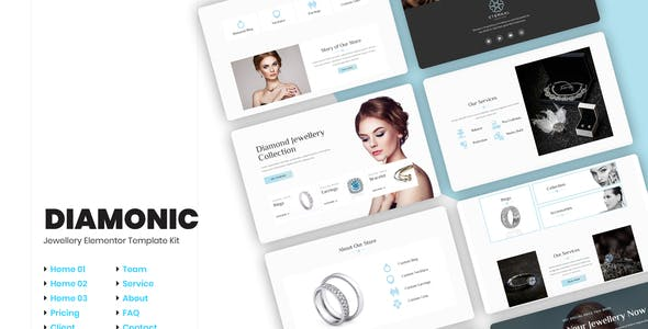 Diamonic   Jewellery Store Elementor Template Kit