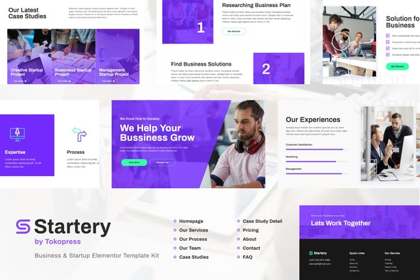 Startery | Business & Startup Elementor Template Kit - Business & Services Elementor