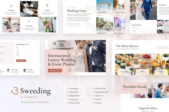 Sweeding - Wedding Elementor Template Kit - Weddings Elementor