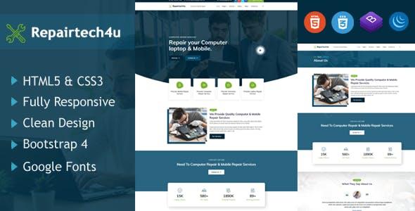 Repairtech4u - Computer & Mobile Repair HTML5 Responsive Template
