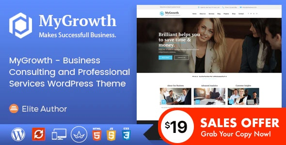 My Growth - Business Consulting and Professional Services WordPress Theme - Business Corporate