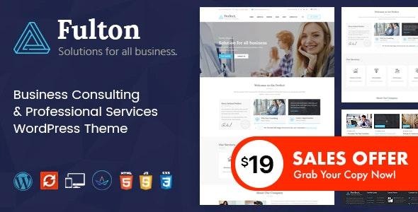 Fulton - Consulting Business and Multi-Purpose WordPress Theme - Business Corporate