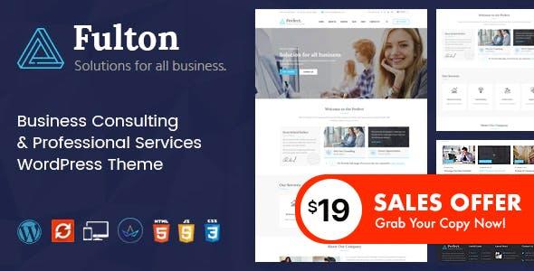 Fulton - Consulting Business and Multi-Purpose WordPress Theme