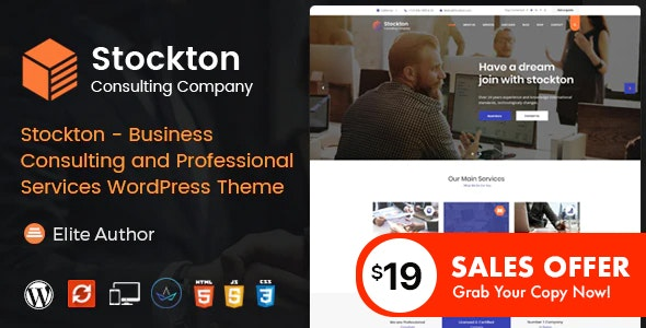 Stockton - Business & Financial Consulting WordPress Theme - Business Corporate