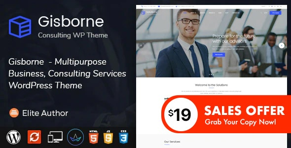 Gisborne - Business, Finance and Consulting WordPress Theme - Business Corporate