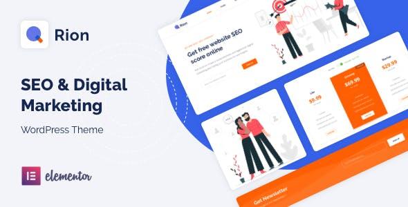 Qrion - SEO & Digital Marketing WordPress Theme