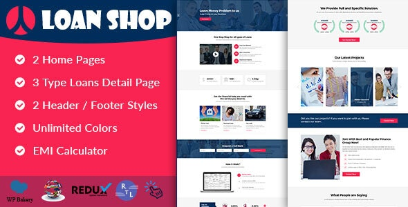 LoanShop – Loan Company & Finance Advisor WordPress Theme - Business Corporate