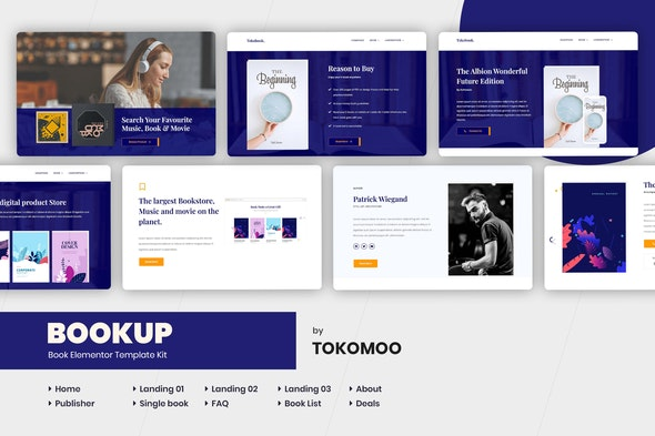 Bookup | Book Store Elementor Template Kit - Shopping & eCommerce Elementor