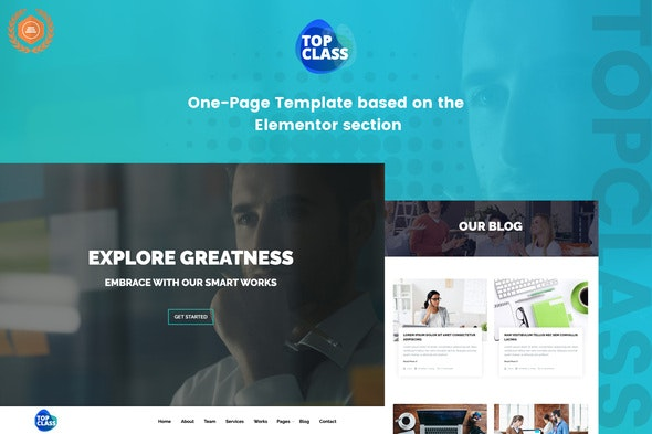 TopClass - Business & Agency Template Kit - Business & Services Elementor