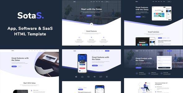 SotaS - App, Software & SaaS HTML Template