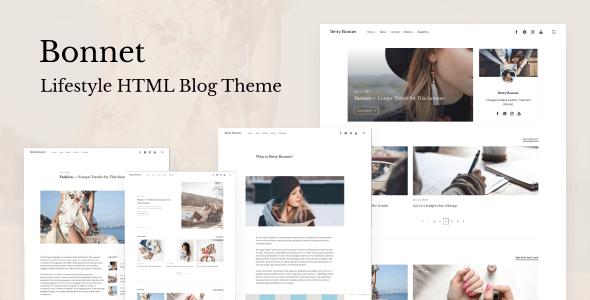 Download Bonnet - Lifestyle HTML Blog Theme