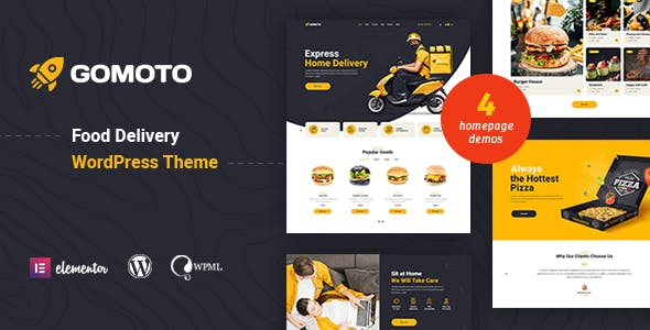 Download Gomoto - Food Delivery & Medical Supplies WordPress Theme