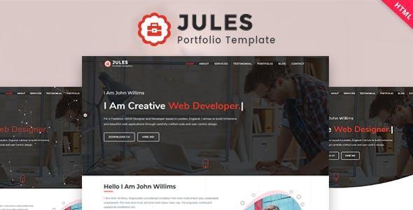 Download Jules - Personal Portfolio Template