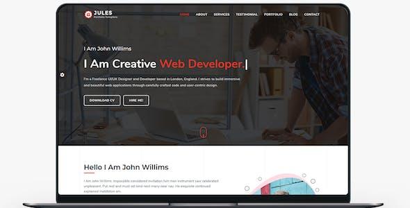 Jules - Personal Portfolio Template