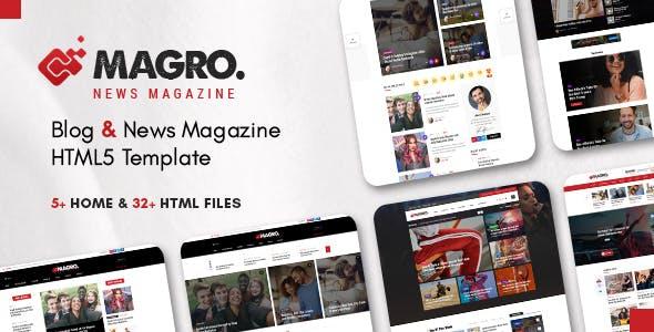 Download Magro - News Magazine & Blog Responsive HTML5 Template