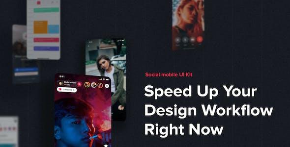 JAZAM - Social UI Kit for Adobe XD