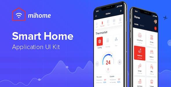 MIHOME - Smart Home UI Kit for Adobe XD