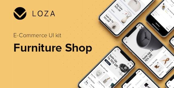 LOZA - Furniture Shop UI Kit for Adobe XD