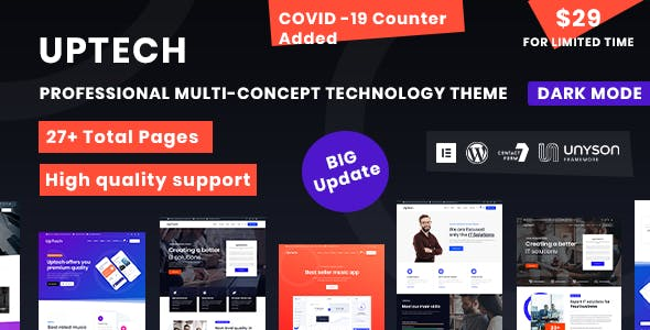 Download Uptech -  IT Solutions & Services WordPress Theme