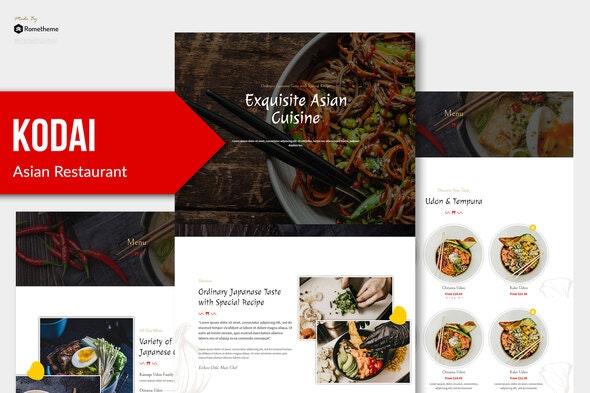 Kodai - Asian Restaurant Elementor Template Kit - Food & Drink Elementor