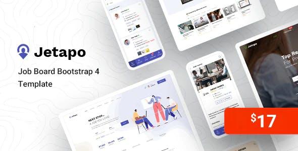 Jetapo - Job Board HTML Bootstrap 4 Template