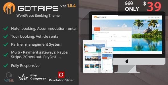 Gotrips | WordPress Travel Booking Theme - Travel Retail