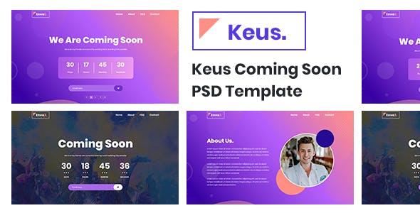 Keus - Coming Soon PSD Template
