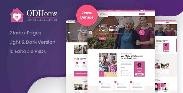 Odhomz - Senior Care PSD Template