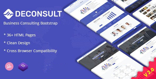 Deconsult - Business Consulting Joomla Template - VirtueMart Joomla