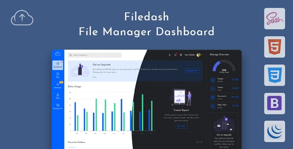 Filedash - File Manager Dashboard - Admin Templates Site Templates