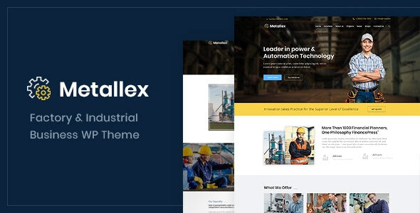 Metallex - Industrial And Engineering WordPress Theme - Business Corporate