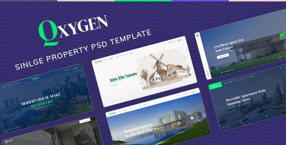 Qxygen - Single Property PSD Template - Business Corporate