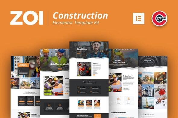 ZOI - Construction Template Kit - Real Estate & Construction Elementor