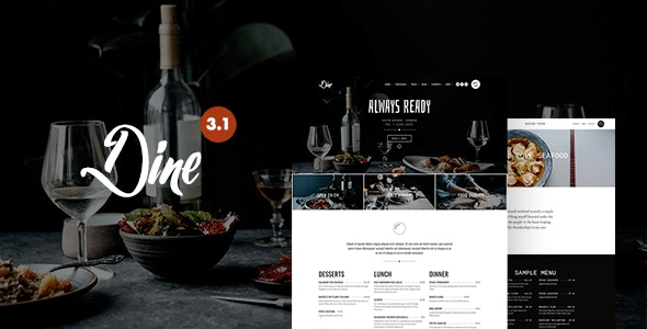 Dine - Elegant Restaurant Theme - Restaurants & Cafes Entertainment