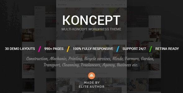 Koncept - Responsive Multi-Concept Wordpress Theme - Business Corporate