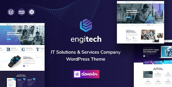 Engitech - IT Solutions & Services WordPress Theme - Software Technology