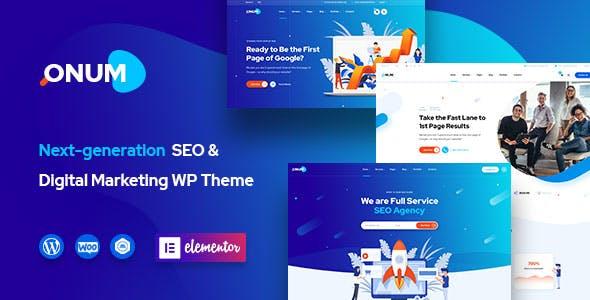 Onum - SEO & Marketing Elementor WordPress Theme by OceanThemes