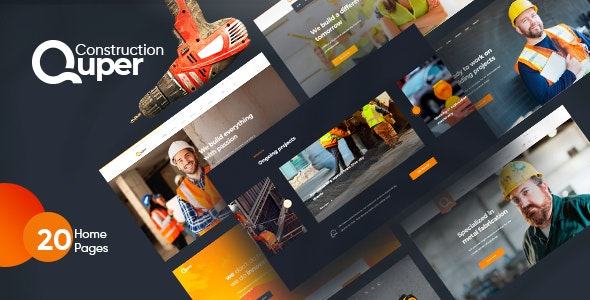 Quper - Construction PSD Template - Creative Photoshop