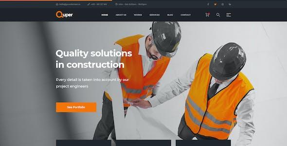 Quper - Construction PSD Template