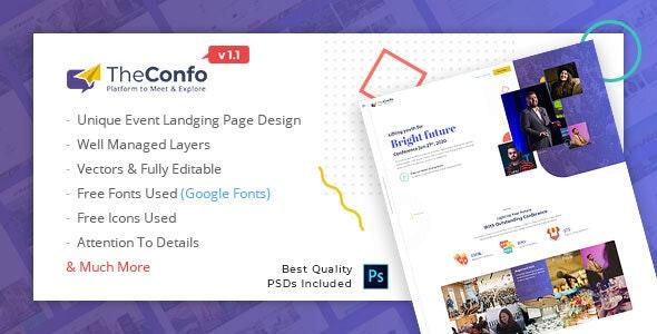 Confo - Event Landing Page - Events Entertainment