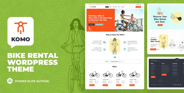 Komo - Bike Rental Shop WordPress - Business Corporate