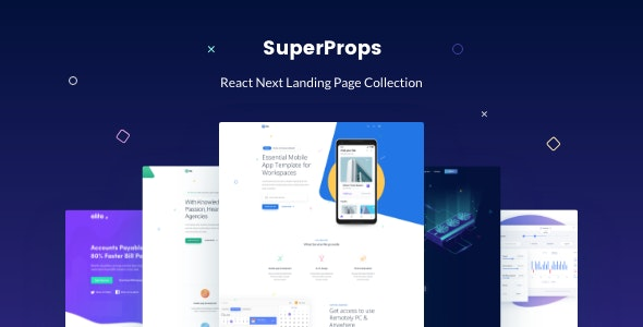 SuperProps - React Next Landing Page Templates - Site Templates