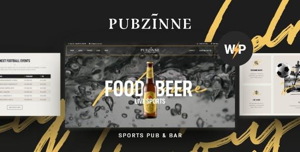 Download Pubzinne - Sports Bar WordPress Theme