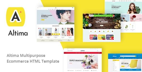 Altima - Minimal Ecommerce HTML5 Template - Shopping Retail