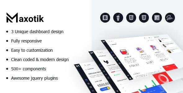 Maxotik - Responsive Admin Dashboard Template