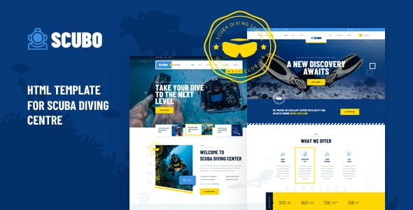 Scubo - HTML Template For Scuba Diving Centre